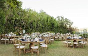 Wedding Reception: Chateau ροτόντες φαγητού από μασίφ δρυ, Chiavari bronze καρέκλες φαγητού από μασίφ ξύλο