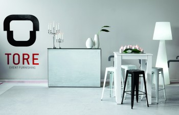 Tore Event Furnishing:  Reception Proposal '15: Twist Mirror Bar, Spicy High Table, Tolix Barstools, Pivot Lighted Floor-Lamp