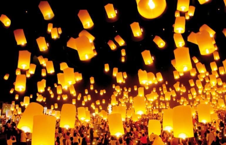 Let your wishes fly με τα αιωρούμενα φανάρια sky lanterns